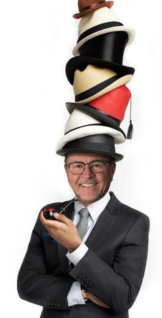Many Hats - It was easier to wear many hats than grow more heads by Orange County Headshot photographer, Mark Jordan